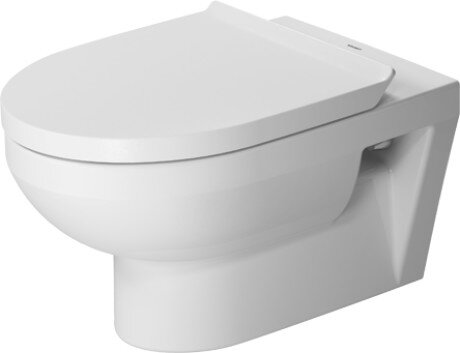 DuraStyle 1.28 GPF (Water Efficient) Elongated Wall Mounted Toilet with High Efficiency Flush (Seat Not Included) by Duravit