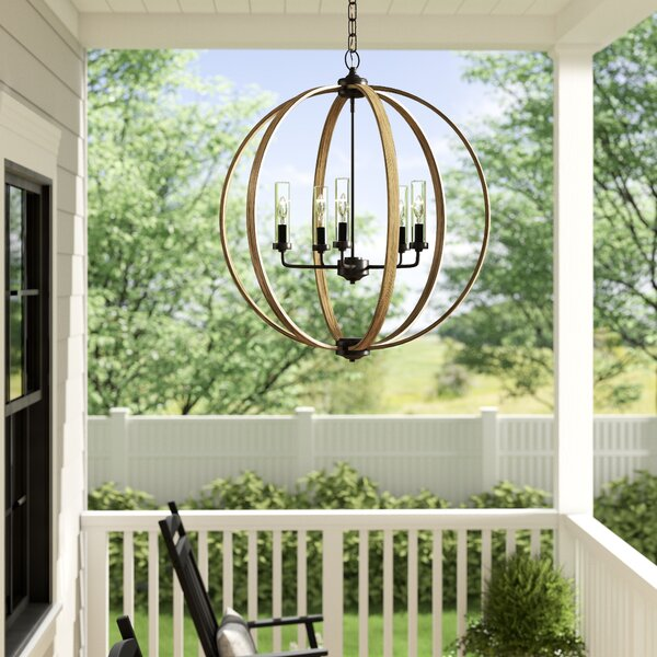 Flavien 5-Light Outdoor Chandelier by Laurel Foundry Modern Farmhouse