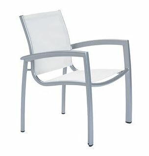 South Beach Stacking Patio Dining Chair with Cushion by Tropitone