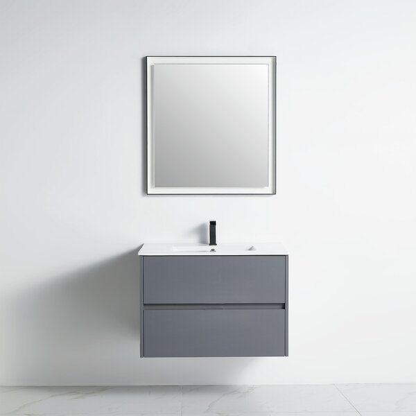 Altitude 31 Wall-Mounted Single Bathroom Vanity Set with Mirror