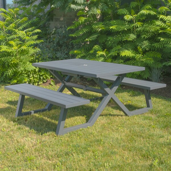Ammiras Picnic Table by Ebern Designs