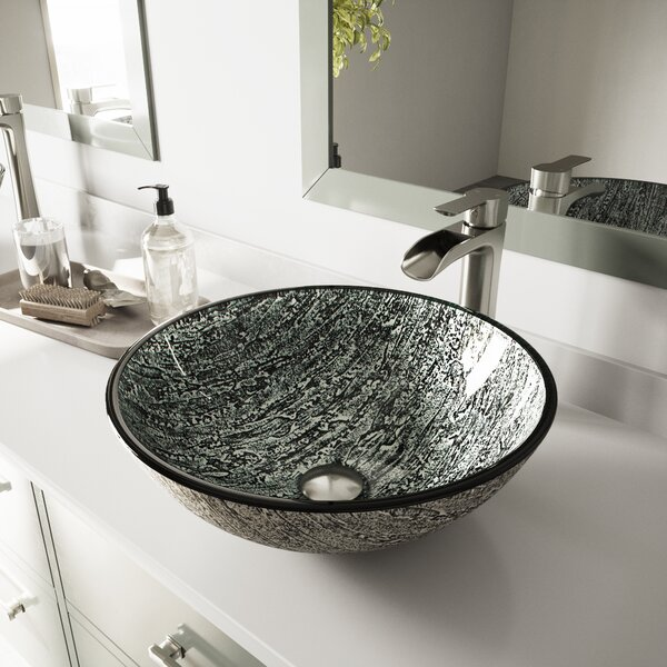 VIGO Glass Circular Vessel Bathroom Sink by VIGO