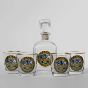 5-Piece Army Decanter Set