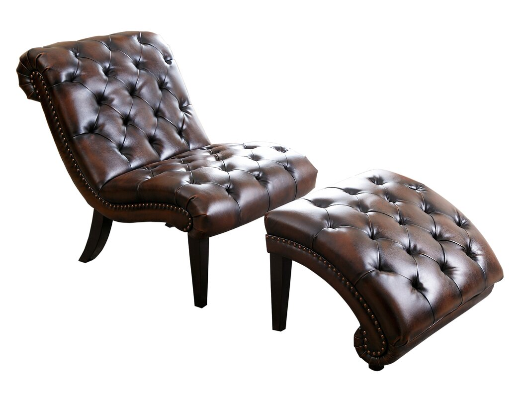 Delbert leather chaise lounge and ottoman reviews for Bellagio leather chaise lounge