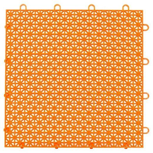 Armadillo Floor 12.63 x 12.63 Tile in Fire Orange by Master Mark Plastics