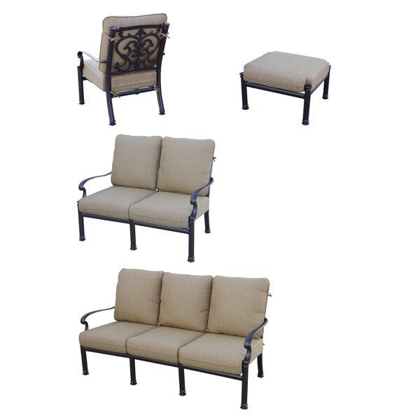 Palazzo Sasso 4 Piece Sofa Set With Cushions By Astoria Grand