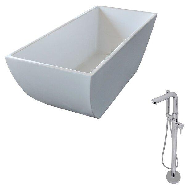 Rook 66.75 x 29.4 Freestanding Soaking Bathtub by ANZZI