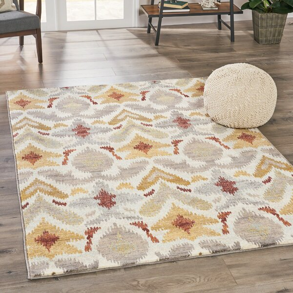 Ellijay Abstract Ivory Area Rug by Ivy Bronx