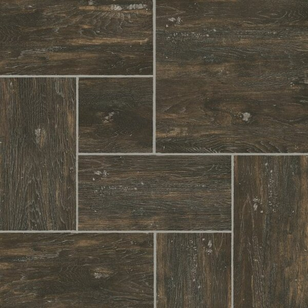 Alterna Reserve 16 x 16 x 4.06mm Hickory Luxury Vinyl Tile in Tobacco Etch by Armstrong Flooring