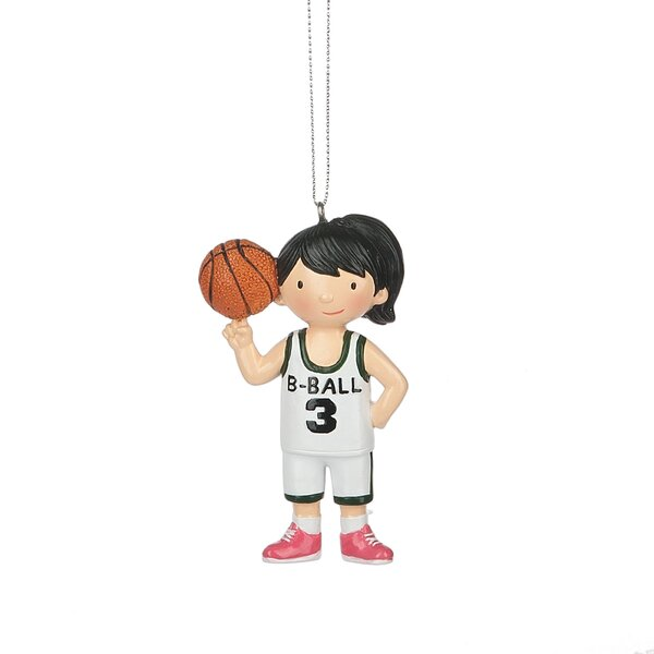 Girl Basketball Player Hanging Figurine by The Hol
