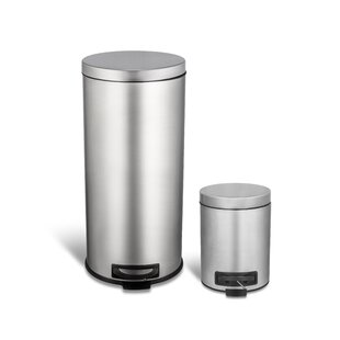Stainless Steel Step On Trash Can