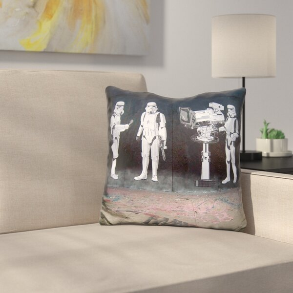 Stormtroopers Throw Pillow by East Urban Home