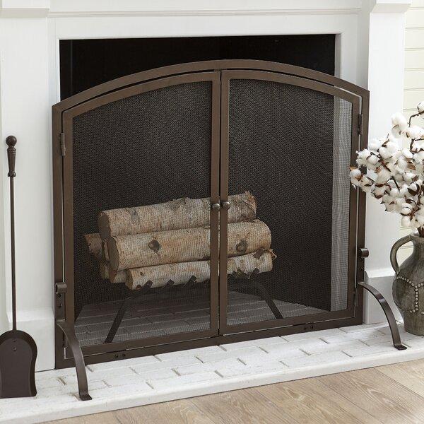 Chambers Single Panel Steel Fireplace Screen By Birch Lane.