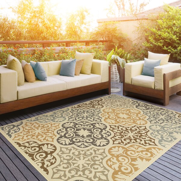 Colton Yellow/Brown Indoor/Outdoor Area Rug by The Conestoga Trading Co.