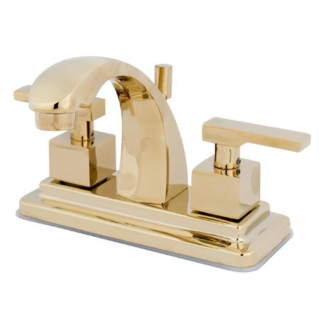 Executive Centerset Bathroom Faucet with Brass Pop-Up Drain by Kingston Brass