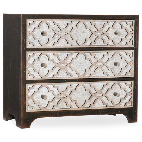 Sanctuary Fretwork 3 Drawer Chest by Hooker Furniture Hooker Furniture