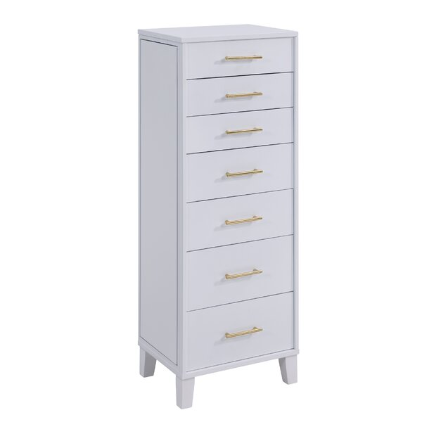 Benoit Free Standing Jewelry Armoire with Mirror by Latitude Run