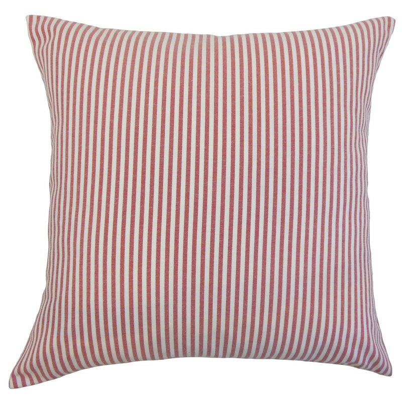 Makan Stripes Square Throw Pillow Cover & Reviews