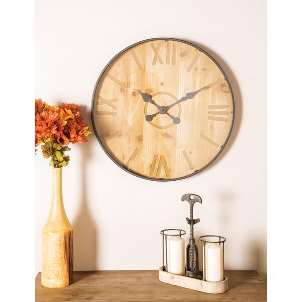 Oversized Ladwig Rustic Round 24 Wall Clock by Williston Forge