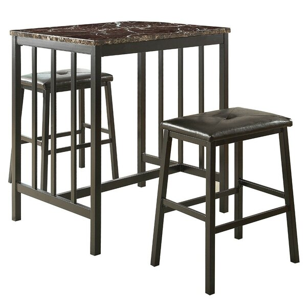 Gerke Counter Height 3 Piece Pub Table Set by Red Barrel Studio