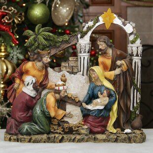 Holy Family and Three Kings Nativity Scene Outdoor Sets You\u0027ll Love | Wayfair