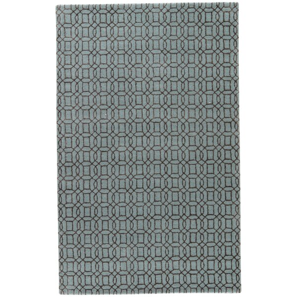 Birch Hill Hand-Tufted Blue/Brown Area Rug by Charlton Home