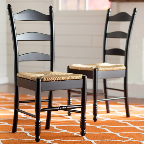 Shirk Ladder Back Solid Wood Dining Chair (Set of 2) by Winston Porter