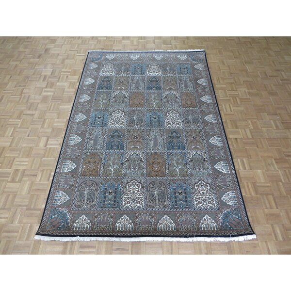 One-of-a-Kind Josephson Hand-Knotted White/Black Area Rug by Canora Grey