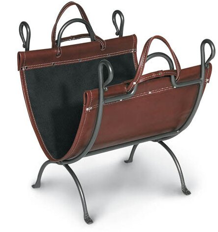 Anvil Log Carrier by Pilgrim Hearth