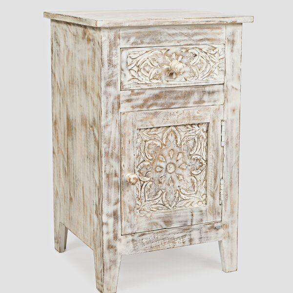 Callimont Hand Carved End Table by Bungalow Rose
