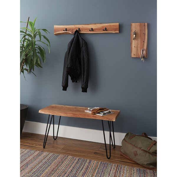Brown Tindle Wood Bench by Union Rustic Union Rustic