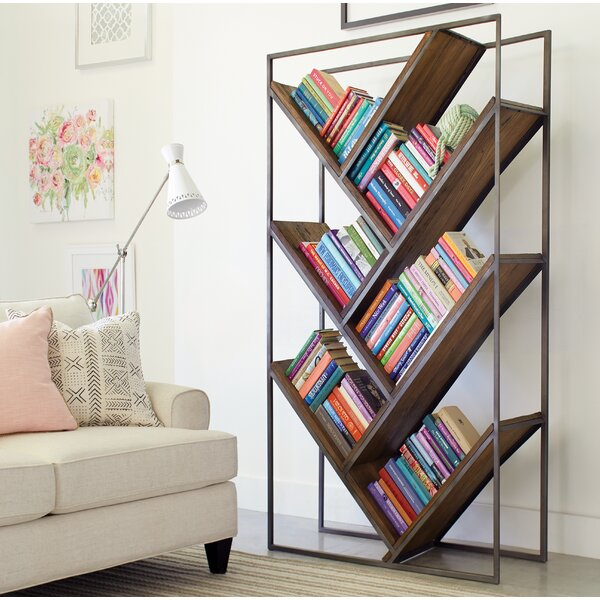 Byram Brandie Geometric Bookcase by Foundry Select Foundry Select