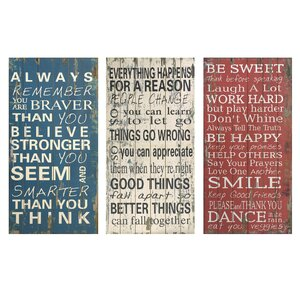 3 Piece Rules of Life Textual Art Set by Loon Peak