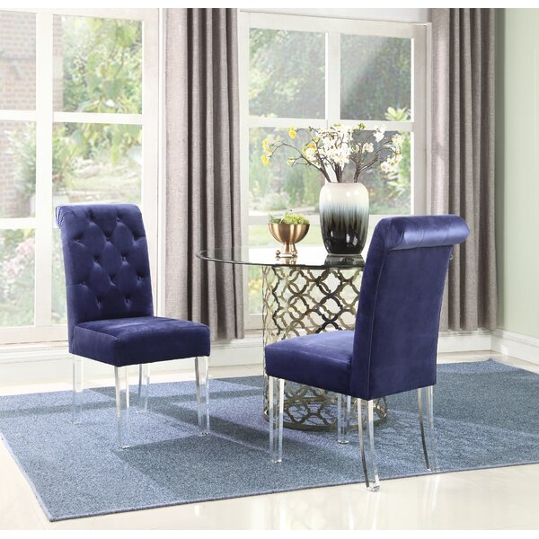 Zackary Button Tufted Upholstered Dining Chair (Set of 2) by Rosdorf Park