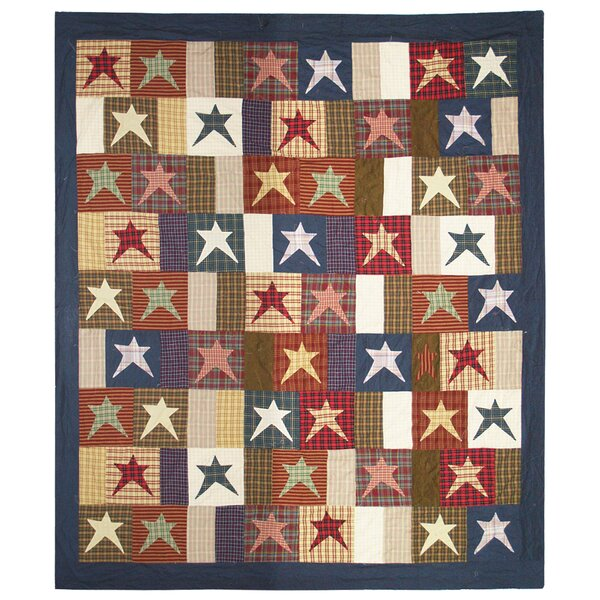 Home Spun Star Cotton Single Reversible Quilt