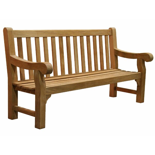 University Teak Park Bench by Douglas Nance