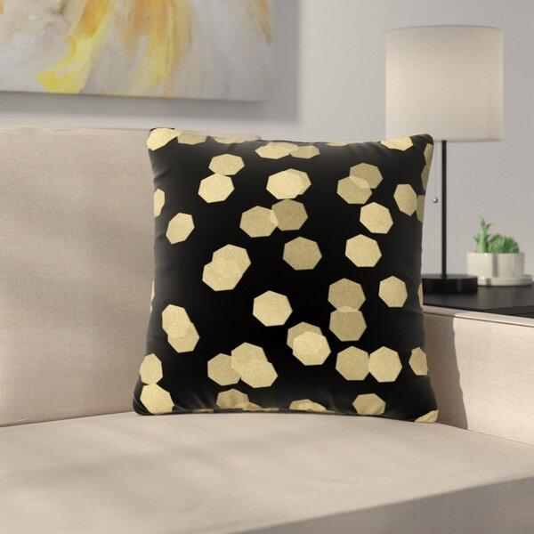 Confetti Noir Outdoor Throw Pillow by East Urban Home