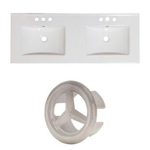 Great Price Ceramic 59 Double Bathroom Vanity Top ByAmerican Imaginations