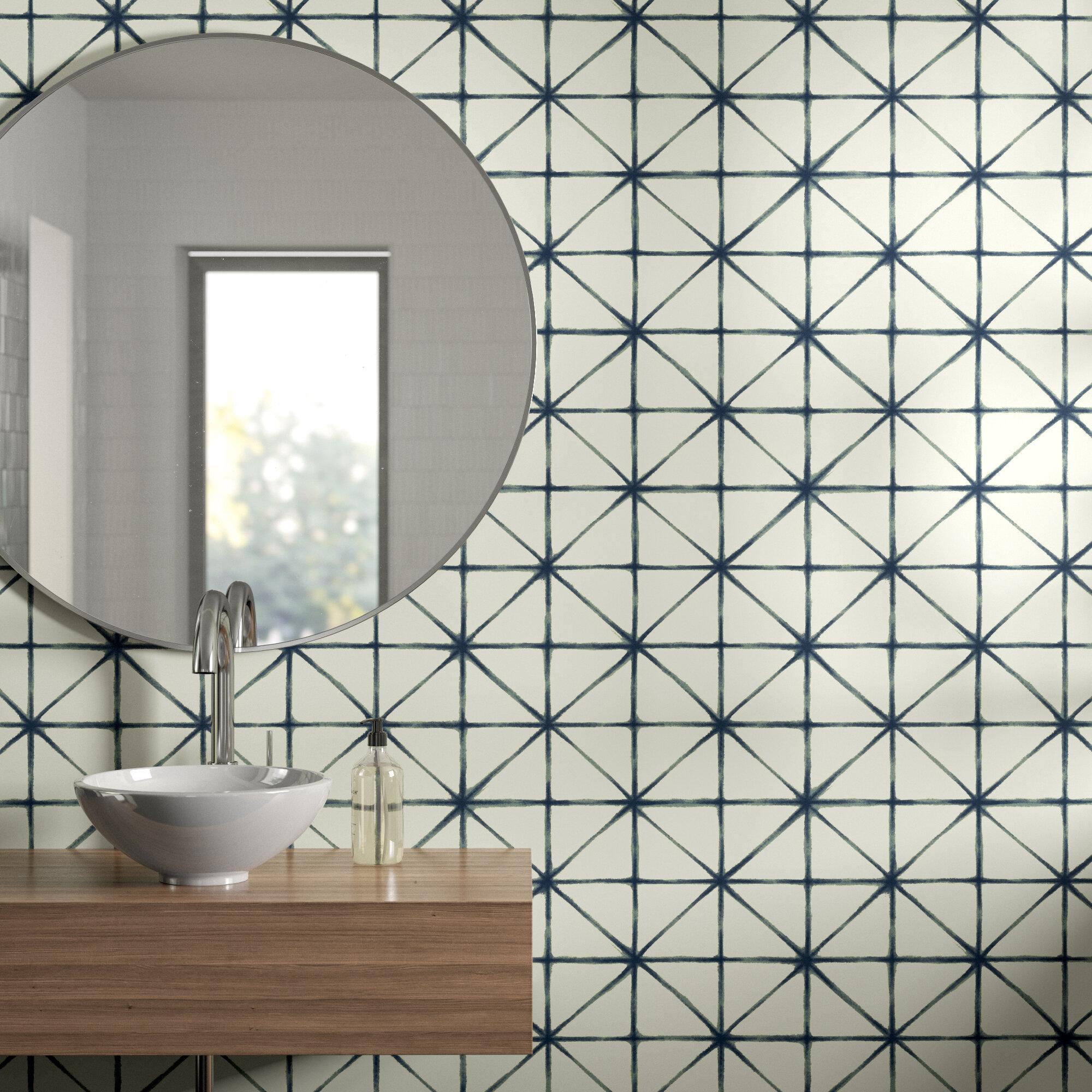 eila modern 165 l x 205 w geometric peel and stick wallpaper roll