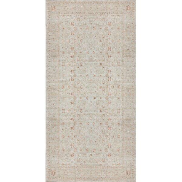 Ziegler Oriental Hand-Knotted Wool Beige/Gold Area Rug