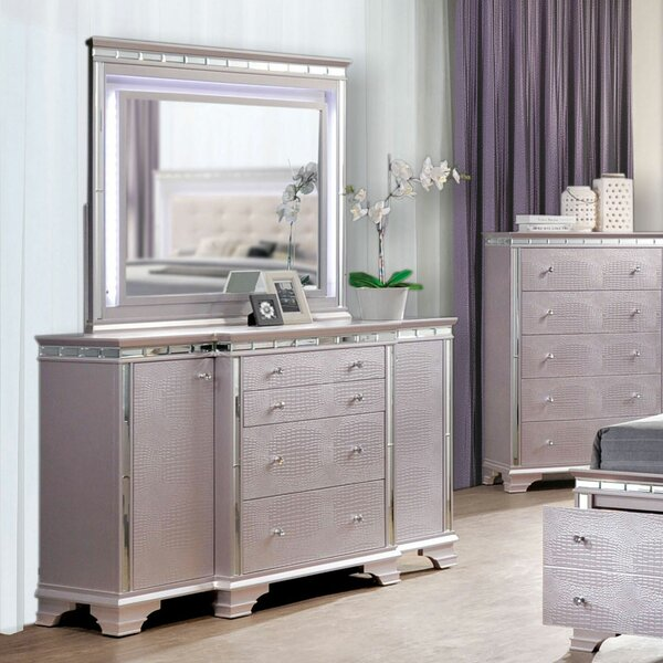 Askerby 4 Drawer Combo Dresser with Mirror by House of Hampton