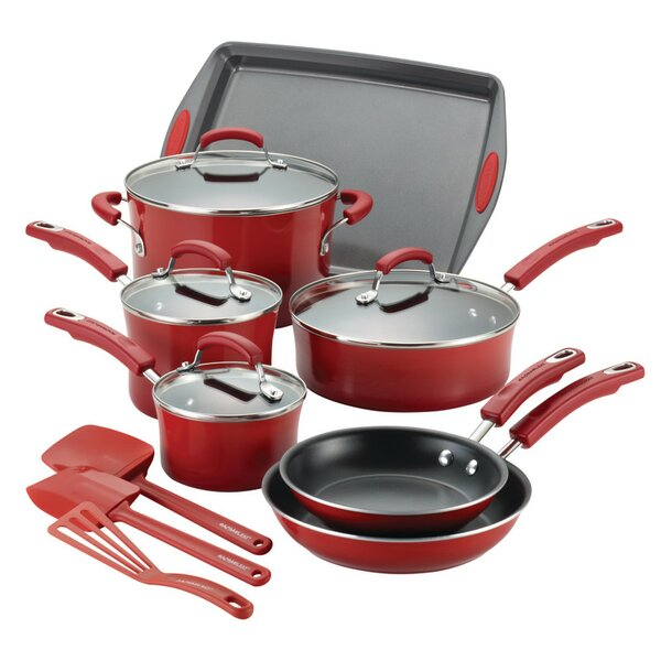14 Piece Nonstick Cookware Set by Rachael Ray