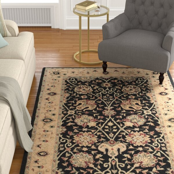 Dunbar Black Area Rug by Charlton Home