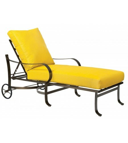 Cascade Reclining Chaise Lounge with Cushion by Woodard
