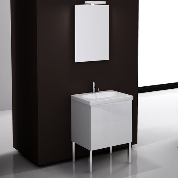 Trendy 24 Single Footed Bathroom Vanity Set with Mirror by Iotti by Nameeks