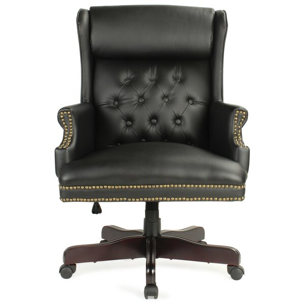 Benningfield Wingback Traditional Ergonomic Executive Chair by Alcott Hill