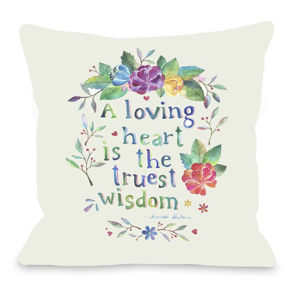 Loving Heart Throw Pillow by One Bella Casa