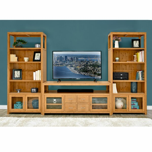 Fleta Solid Wood Entertainment Center For TVs Up To 88