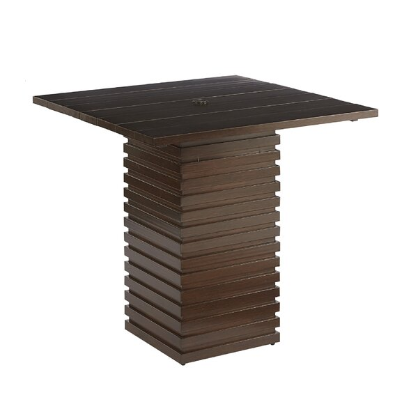 Asphodèle Outdoor Pub Table by Gracie Oaks