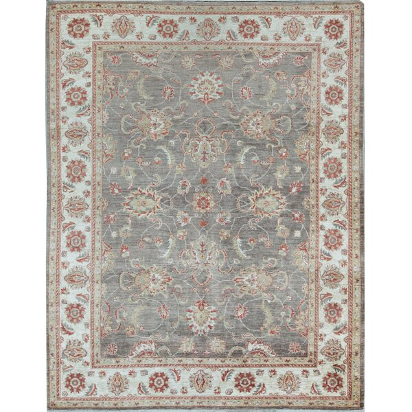Oriental Hand-Knotted Wool Brown/Ivory Area Rug
